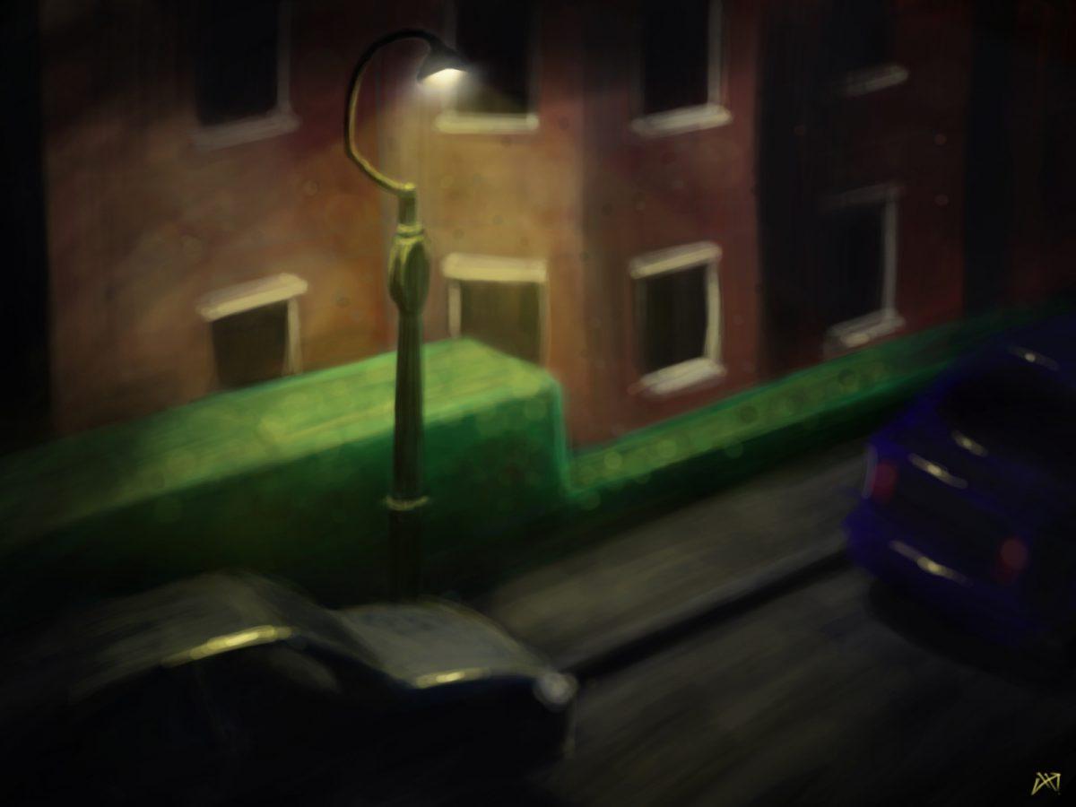 Window view - Digital illustration, digital, painting, ch3
