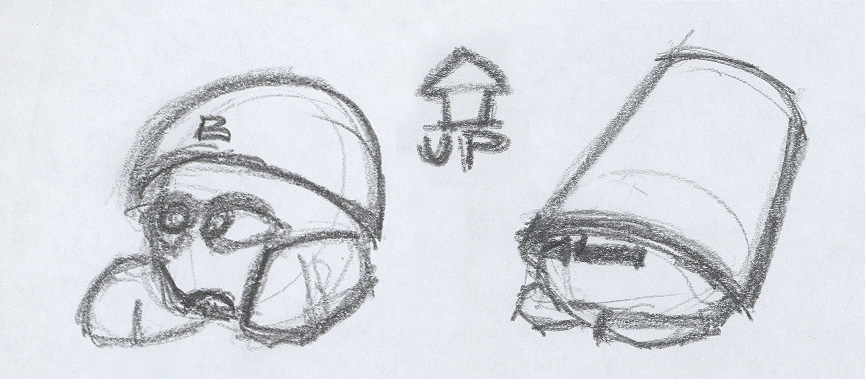 Bucket-heads - Pencil on paper, paper, sketch, ch3