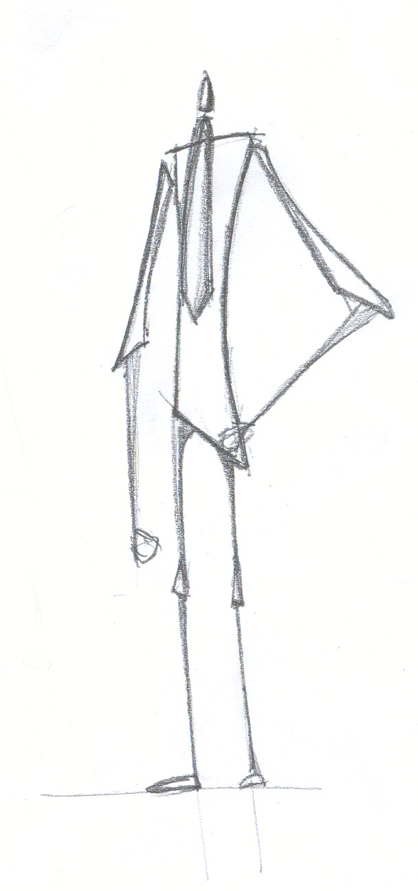 Middle Class - Pencil on paper. Character design for Theros animation, paper, sketch, ch3