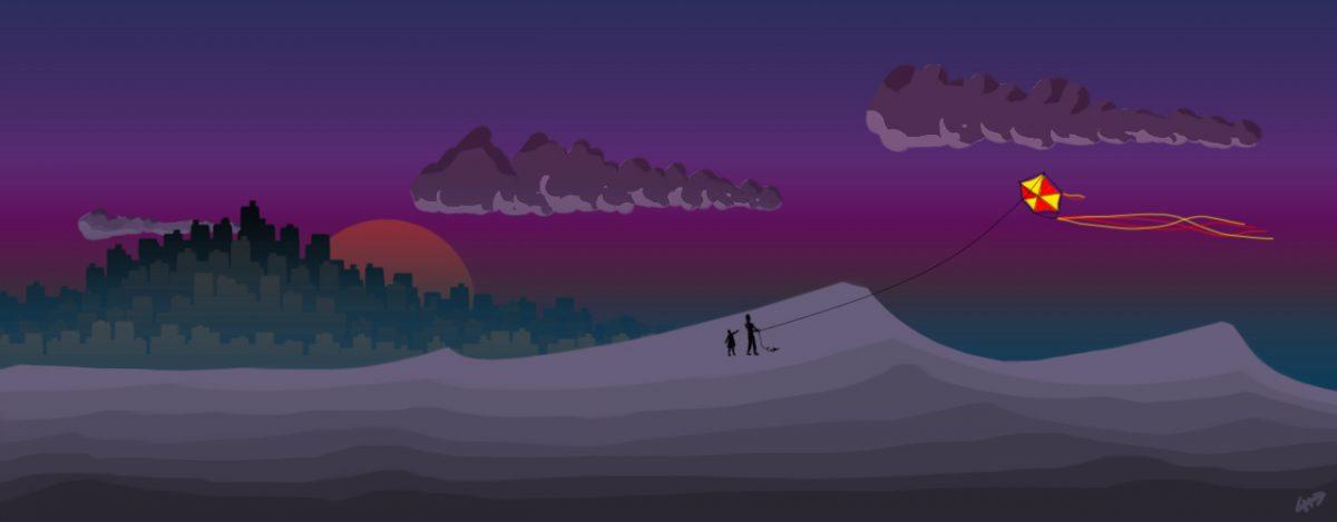 Kite - Digital illustration, digital, illustration, ch3