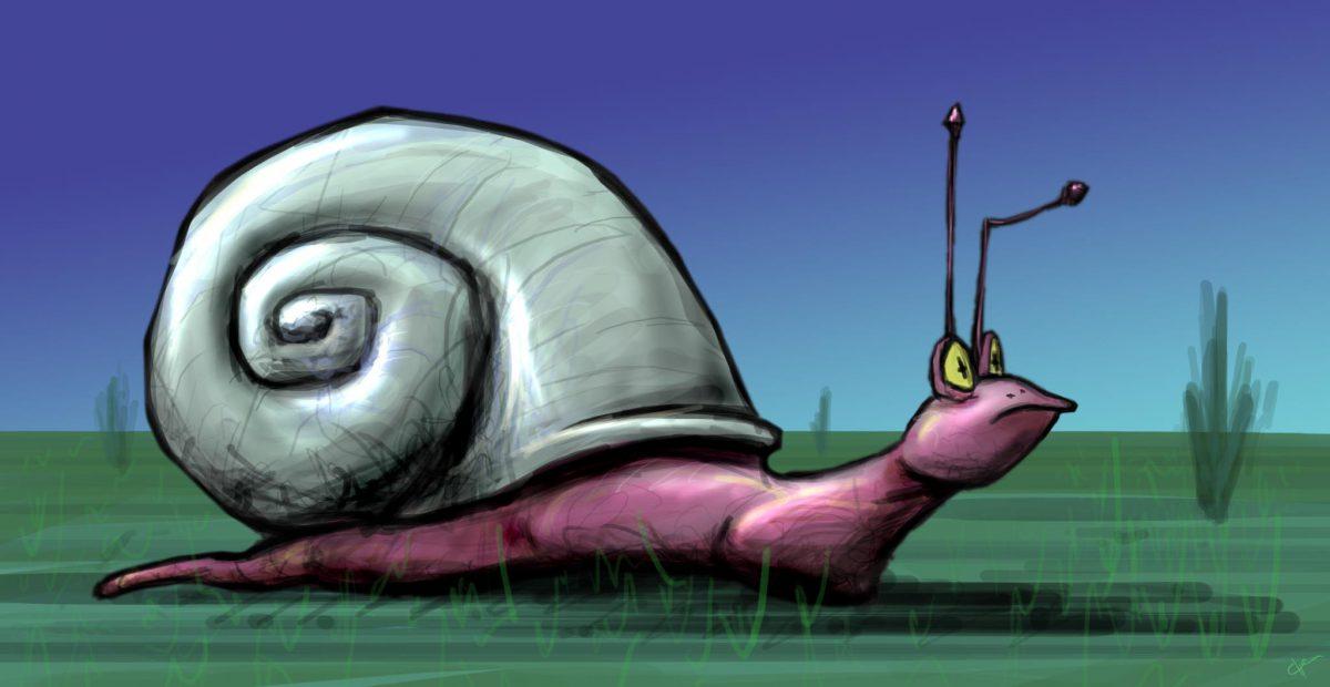 Snail - Digital illustration, digital, ch3, illustration