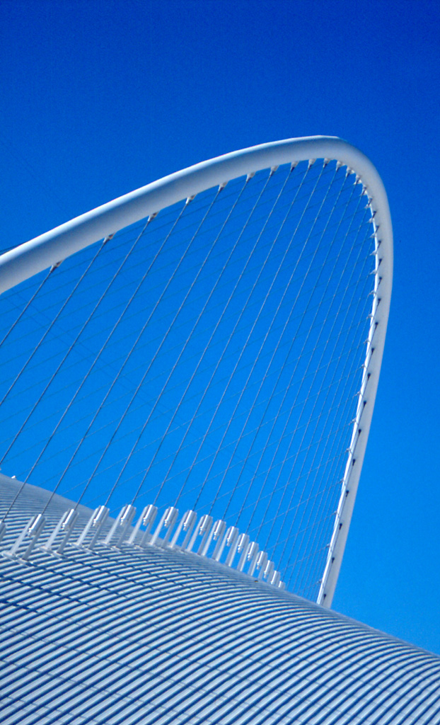 Cycling track - By Santiago Calatrava for the 2004 Olympic games, design, stadium