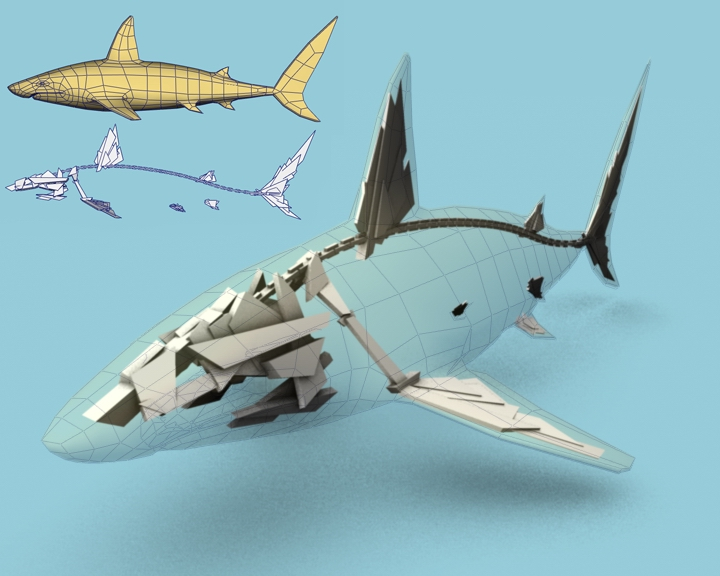 Shark - 3D model used for  Iconoclast real time demo from ASD., digital, 3d, ch3