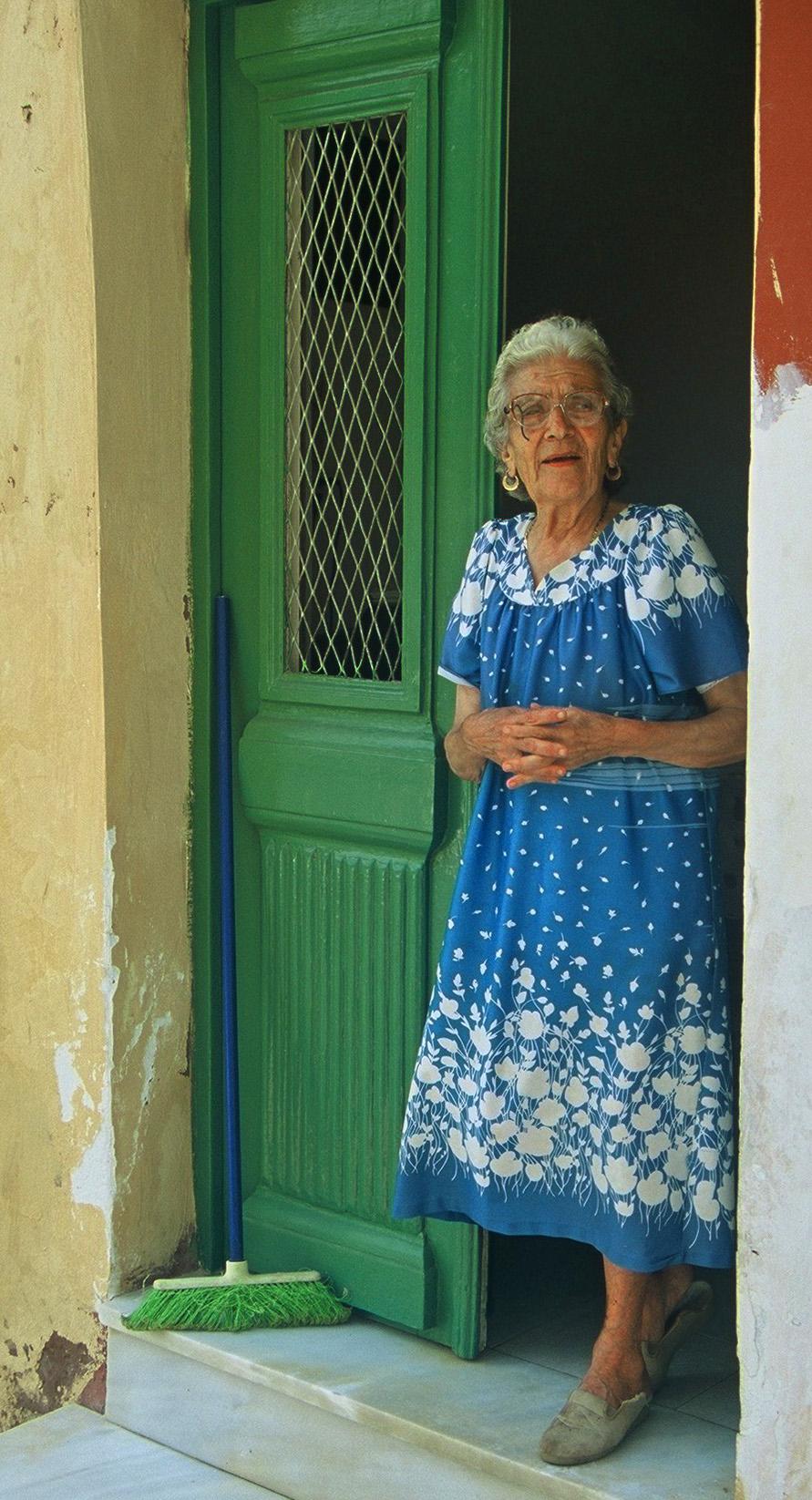 female, door