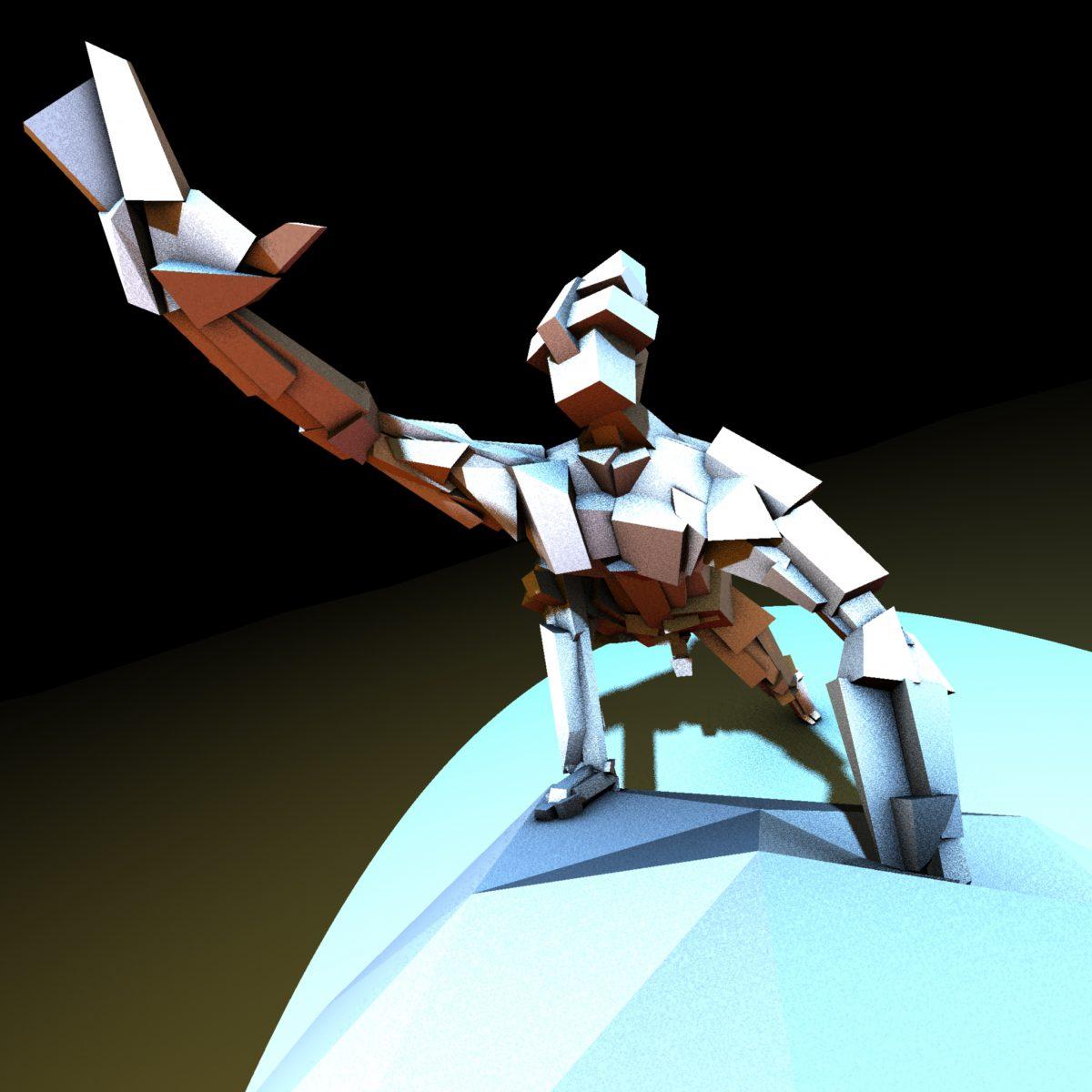 Reaching Man - 3D character, digital, 3d, ch3