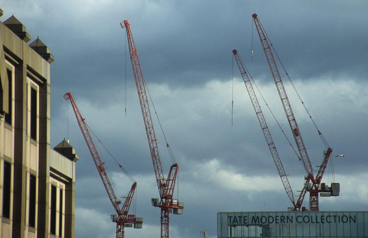 crane, sky, building
