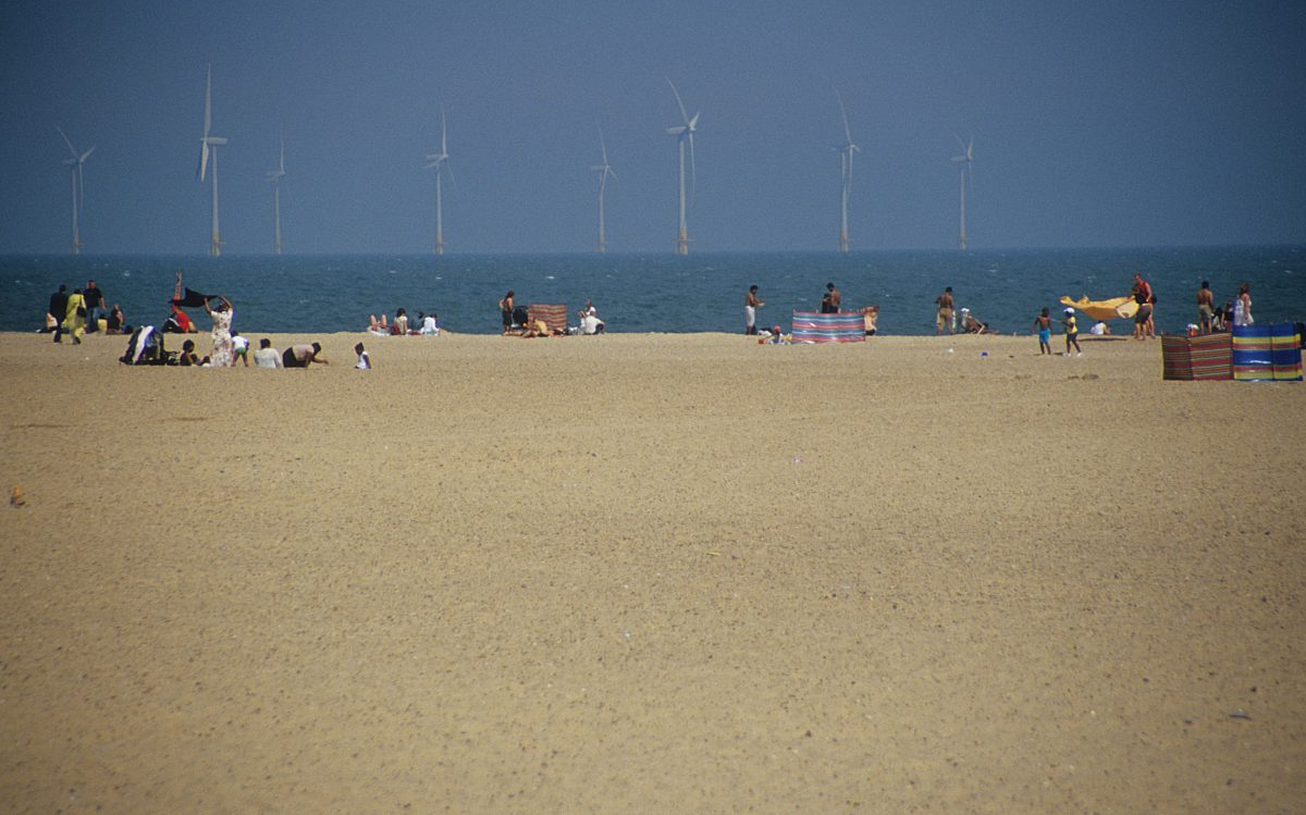 Renewable, beach, sea, turbine, sand