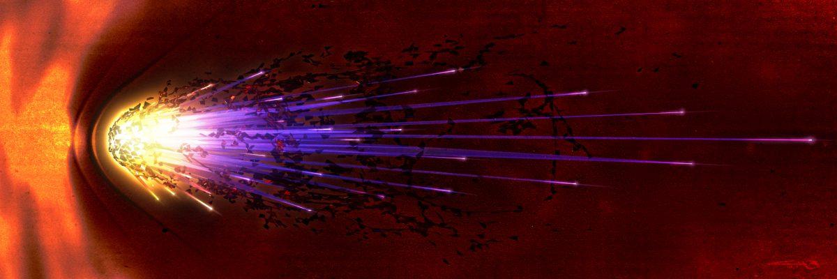 Comet - 3D render and digital illustration, digital, 3d, illustration, ch3