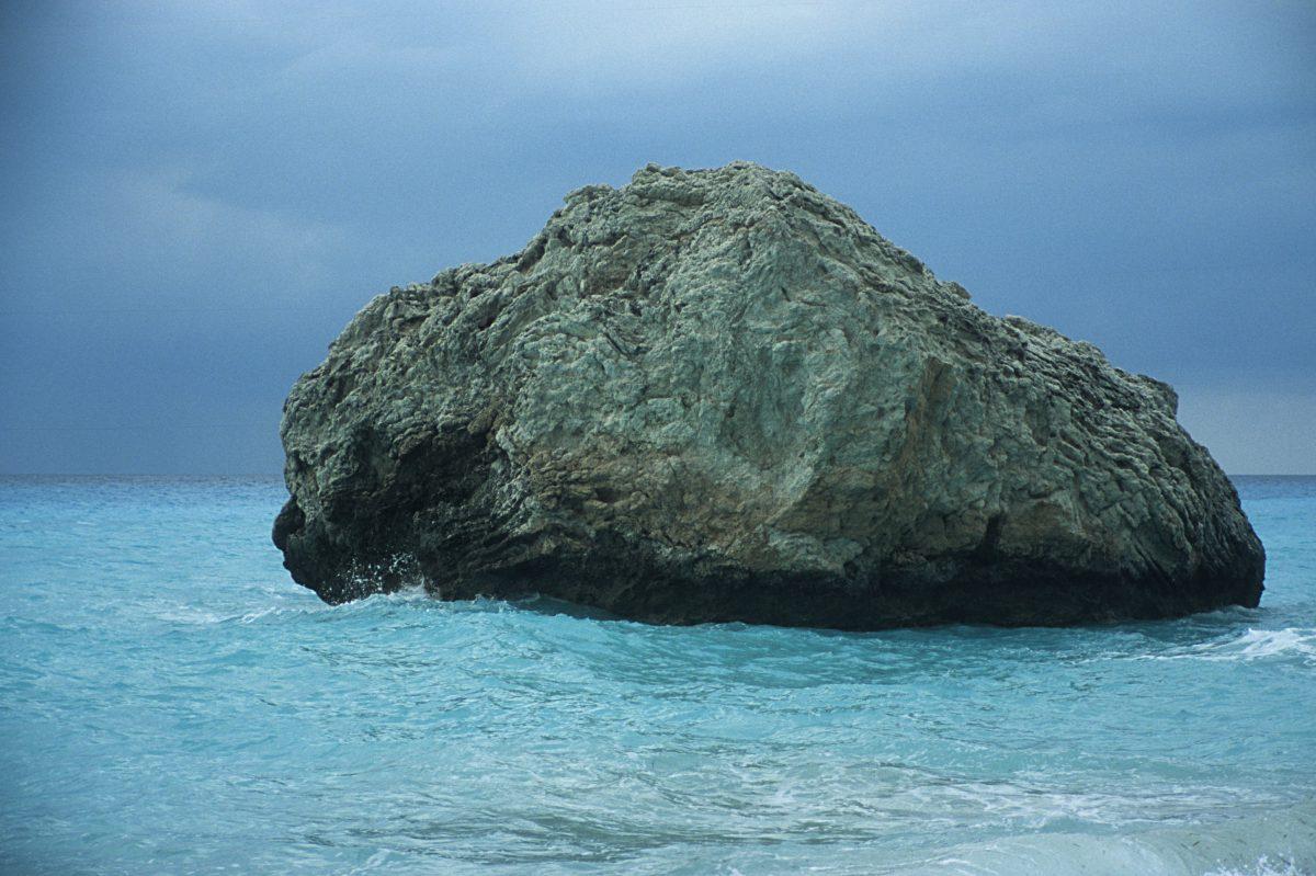 rock, sea, sky