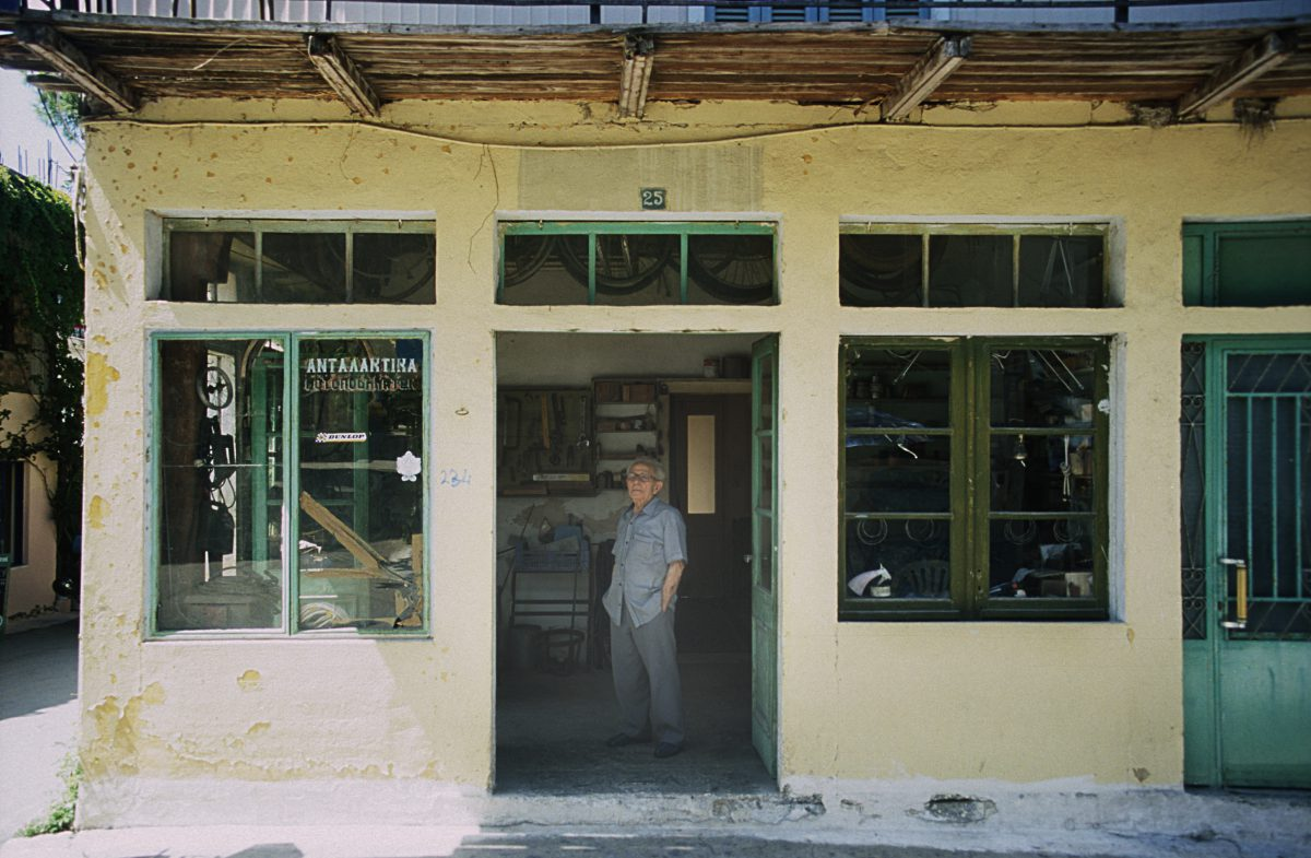 male, shop, decay