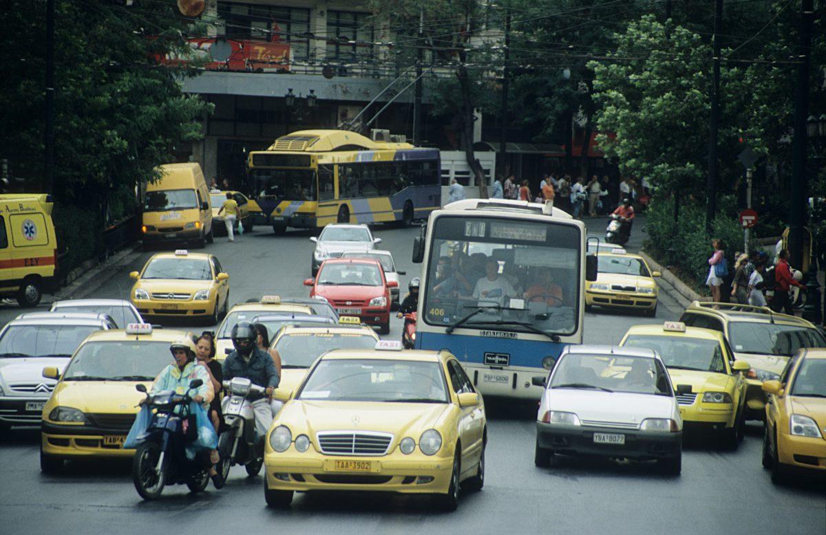 Athens, car, street, city, traffic