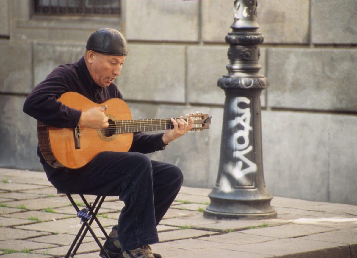 The guitarist, male