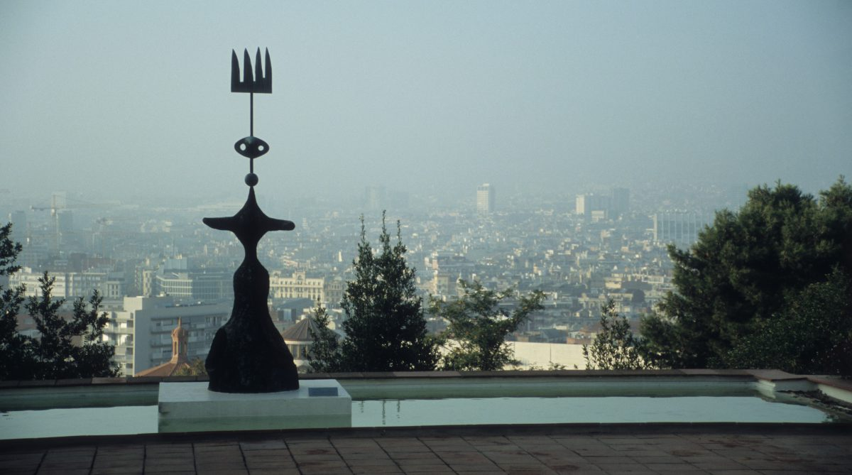 Miro Museum - Joan Miró Foundation, art, view, city, sculpture