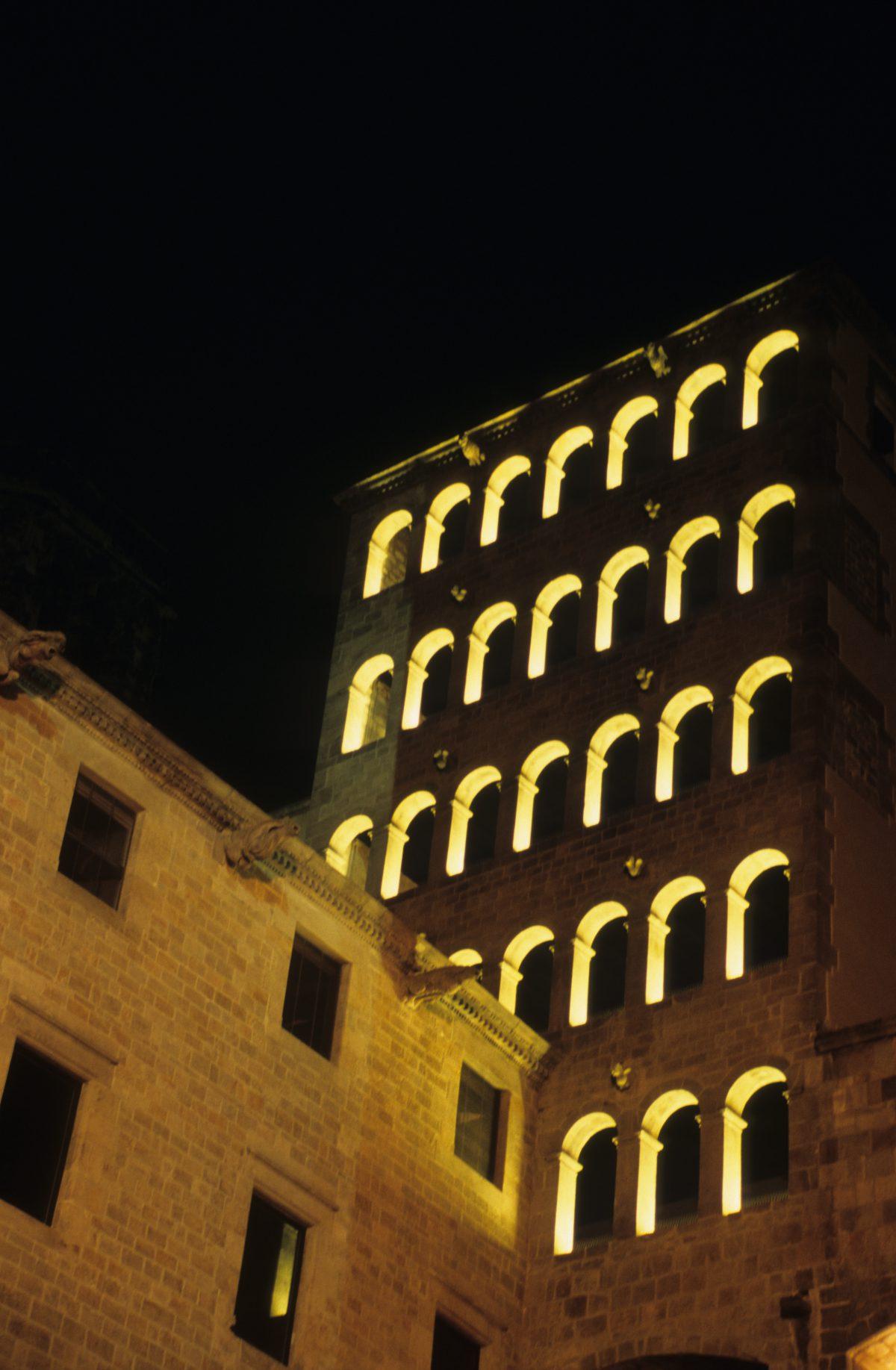 night, building