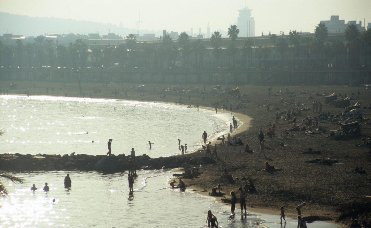 sea, people, city, sand