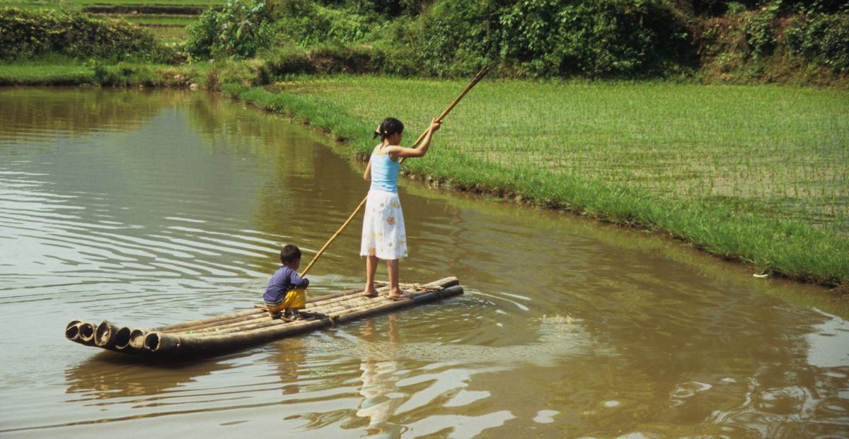 kid, water, boat