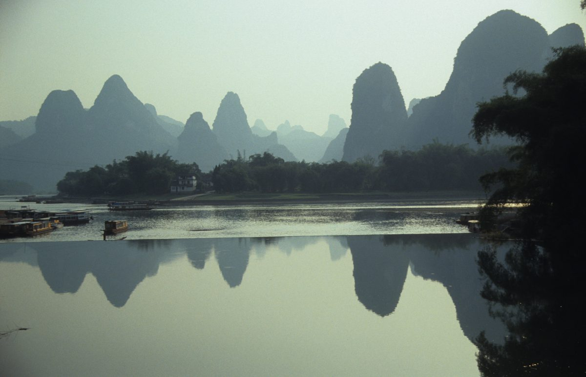 Li River Cruise, water, reflection, boat, mountain