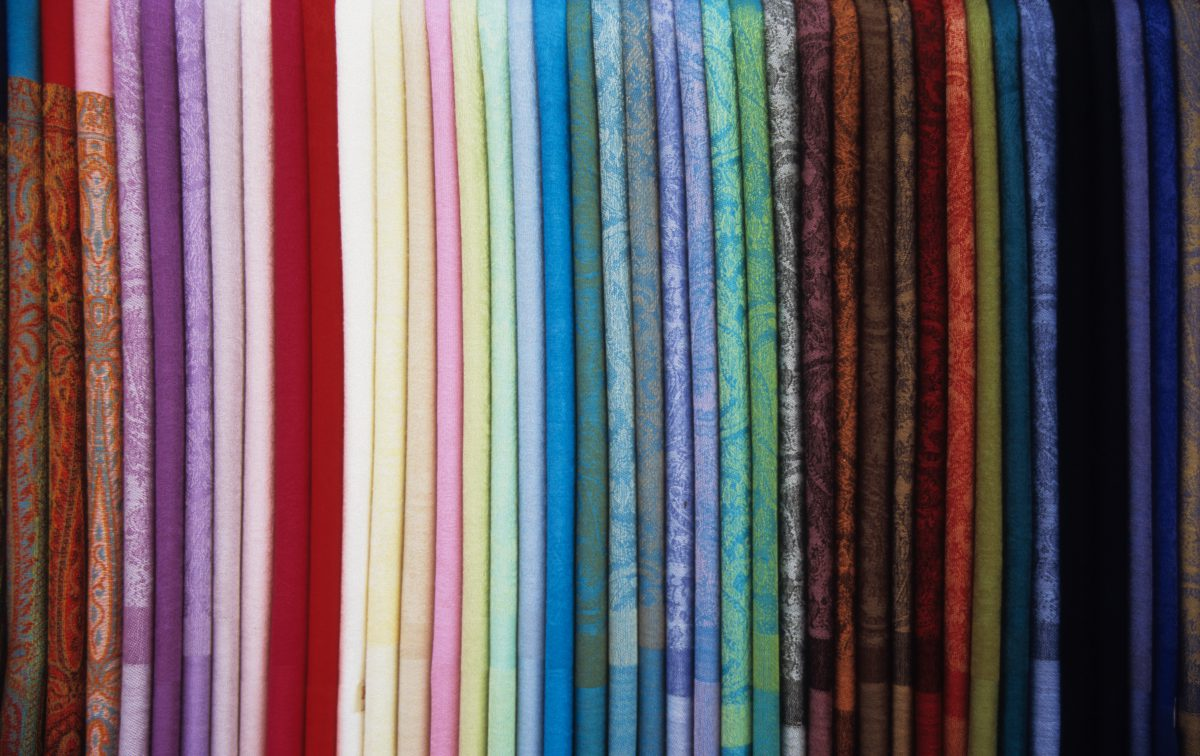Silk scarfs, color, cloth