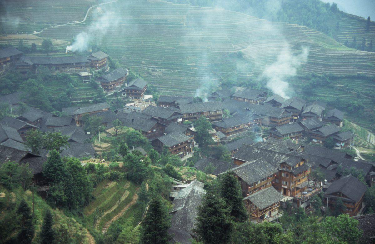 Pingan Village, village, smoke