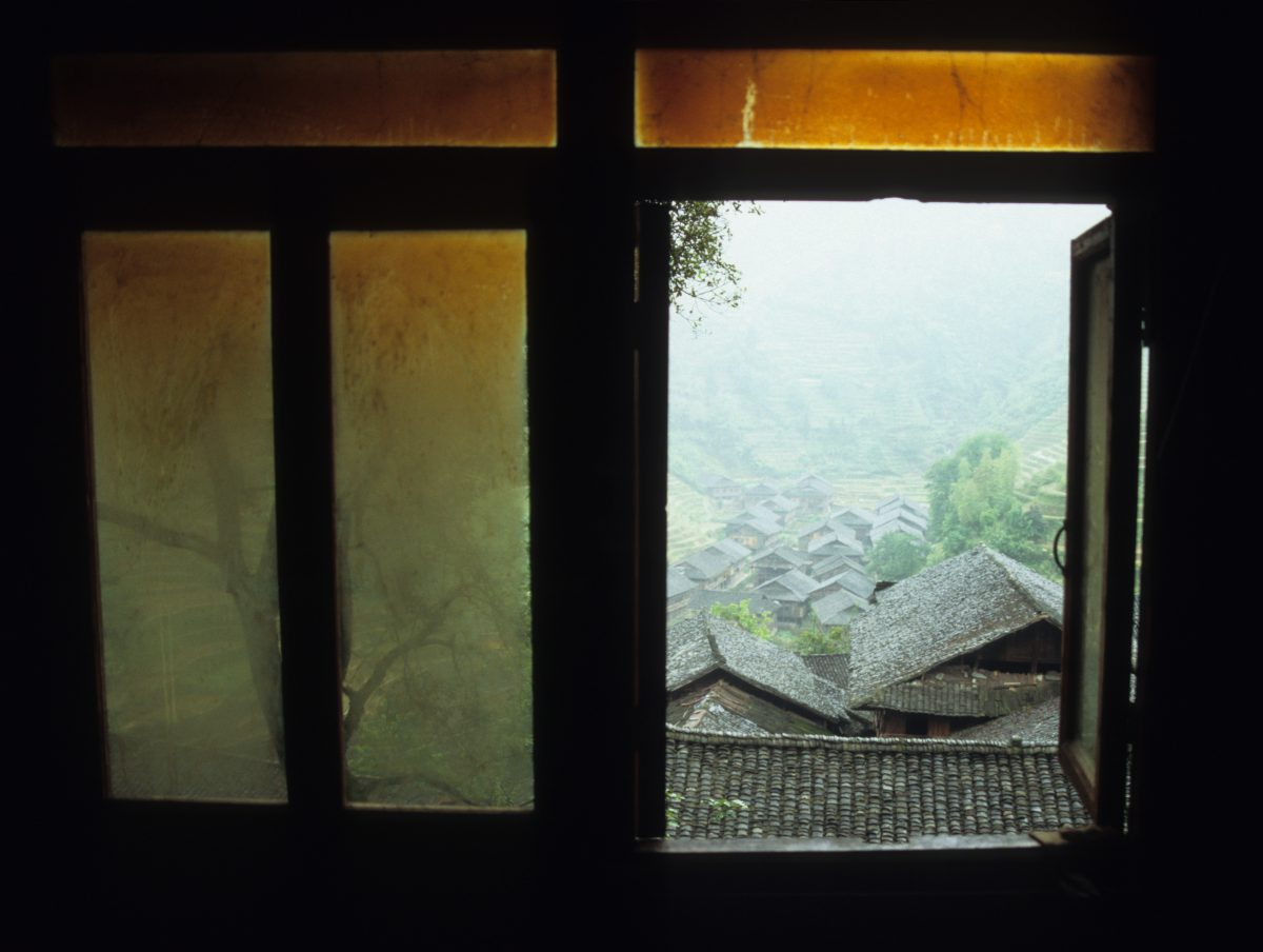 Zhong Liu Village - Two hours hike from the closest road, window, decay, view, village