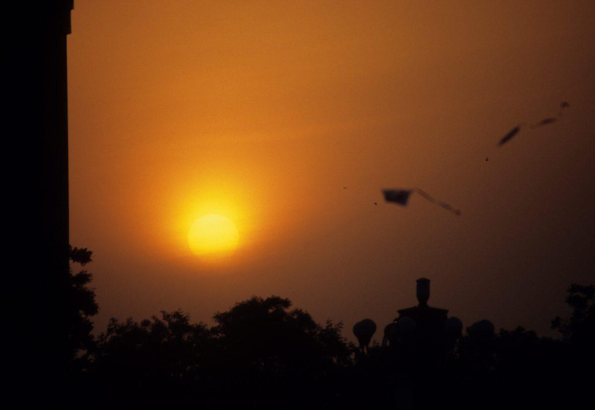 sunset, skyline, game, constrast