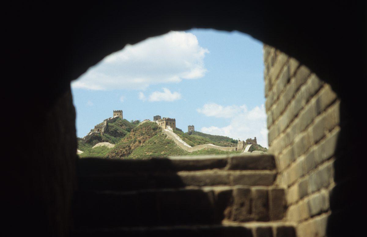 The Great Wall - at Simatai, landmark, contrast, mountain
