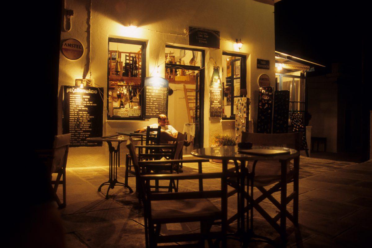 male, restaurant, night