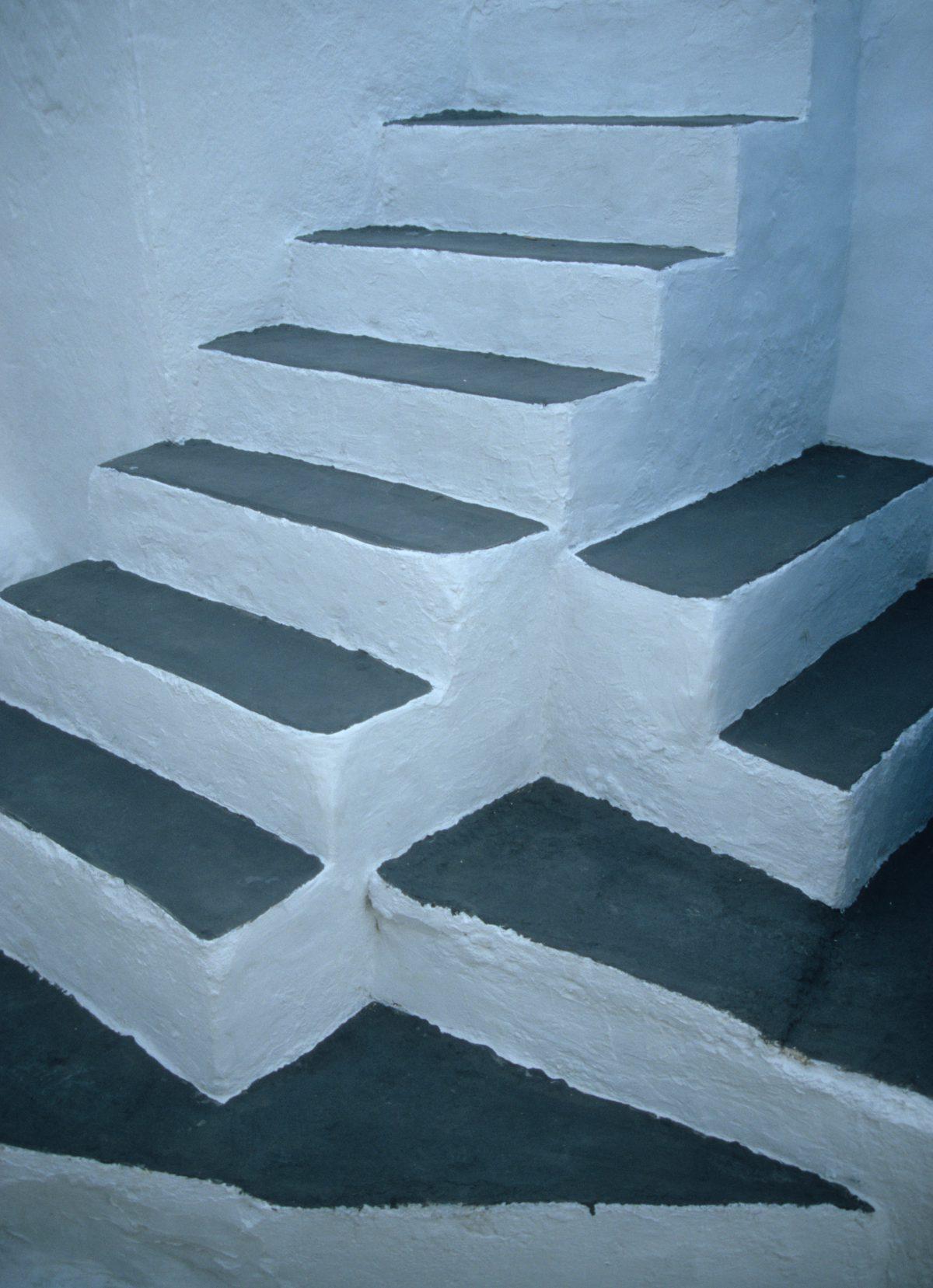 stair, village