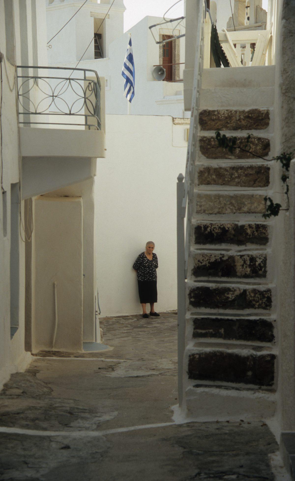 alley, stair, village