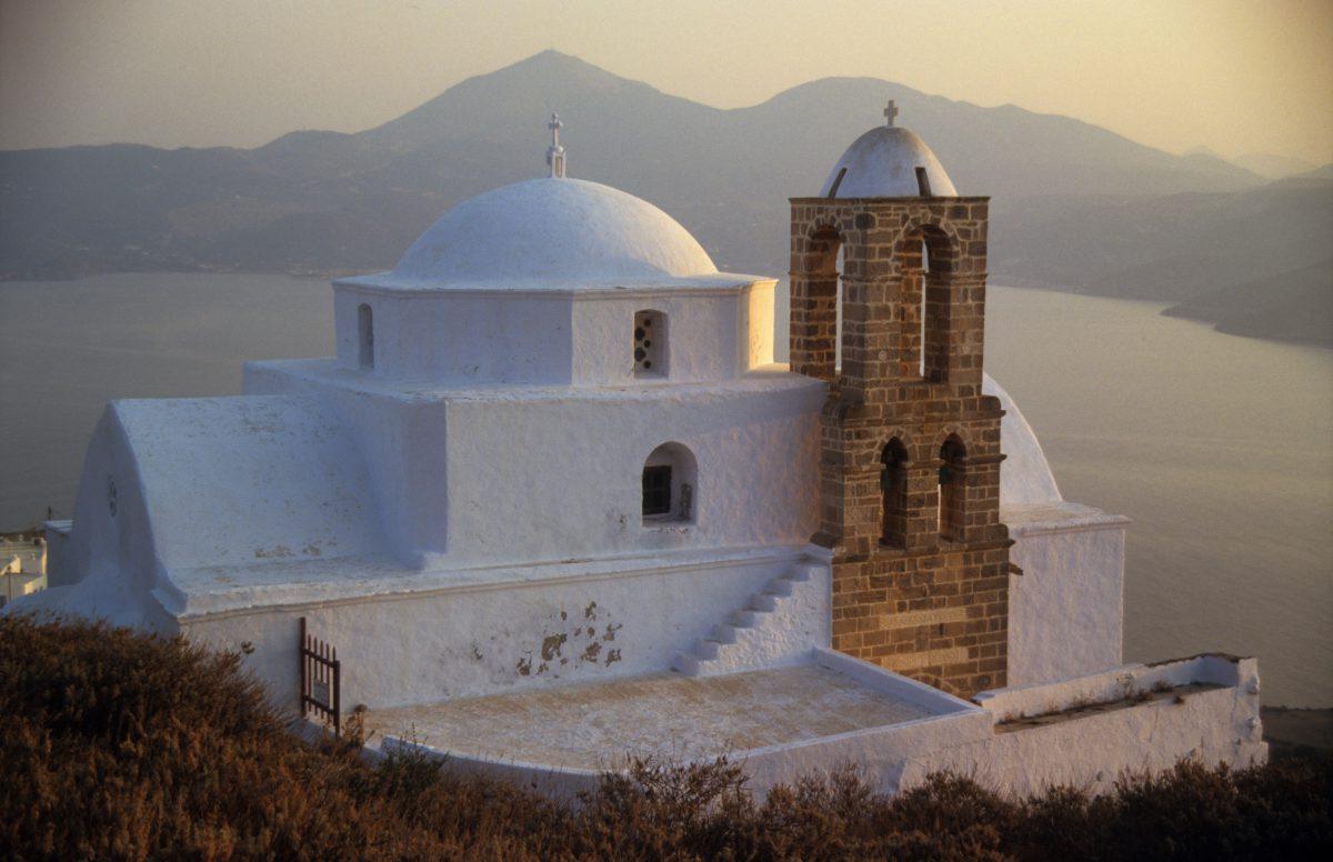 church, sea