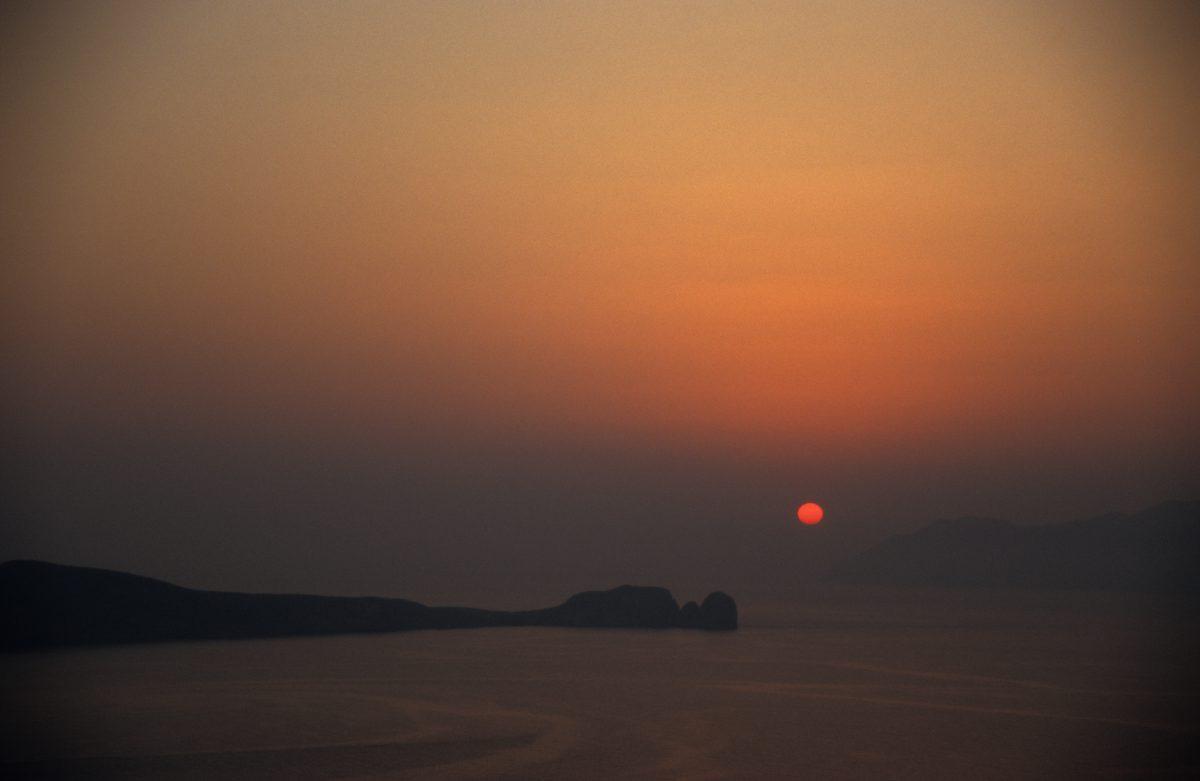 sea, sunset, sky