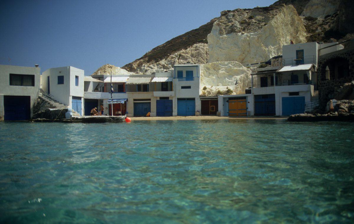 port, sea, color, village