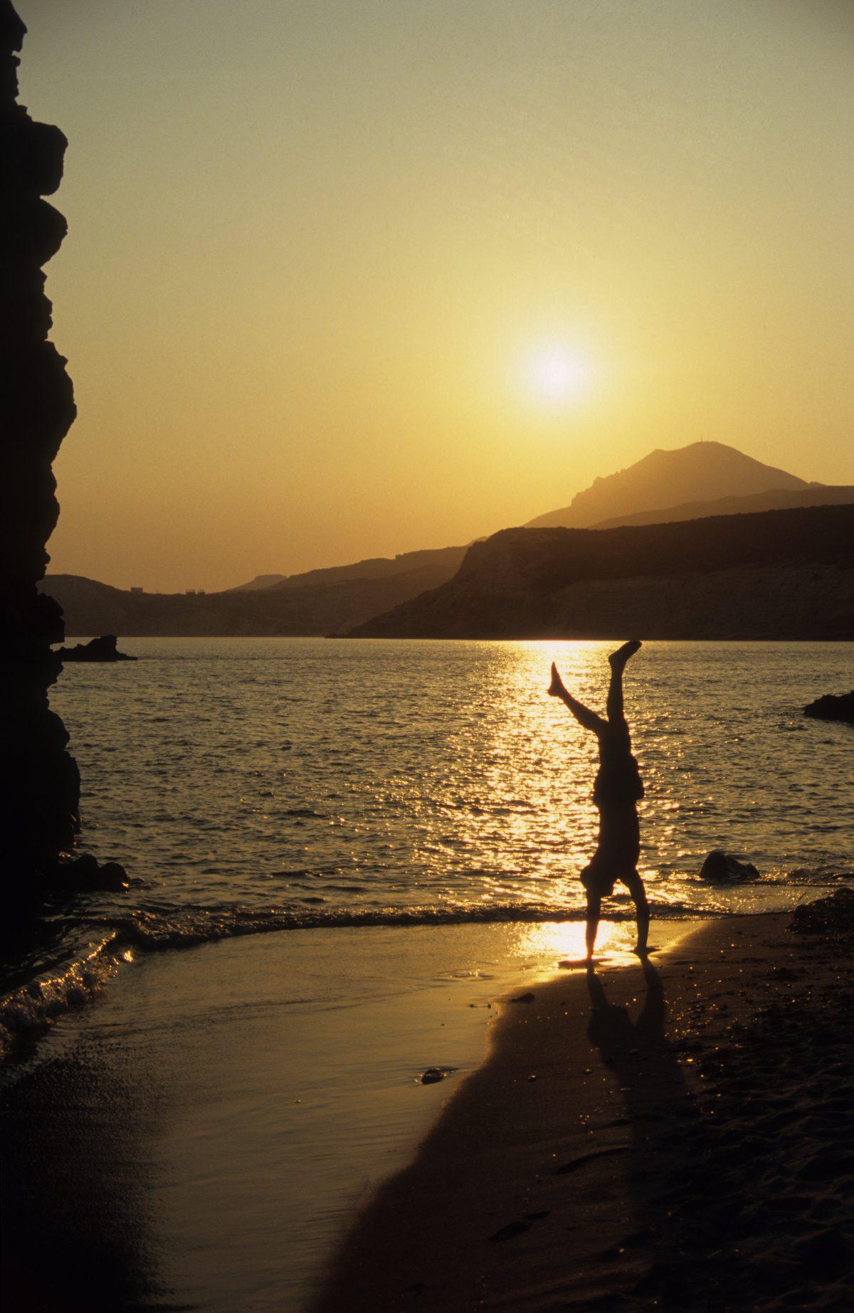 sunset, male, beach, sea