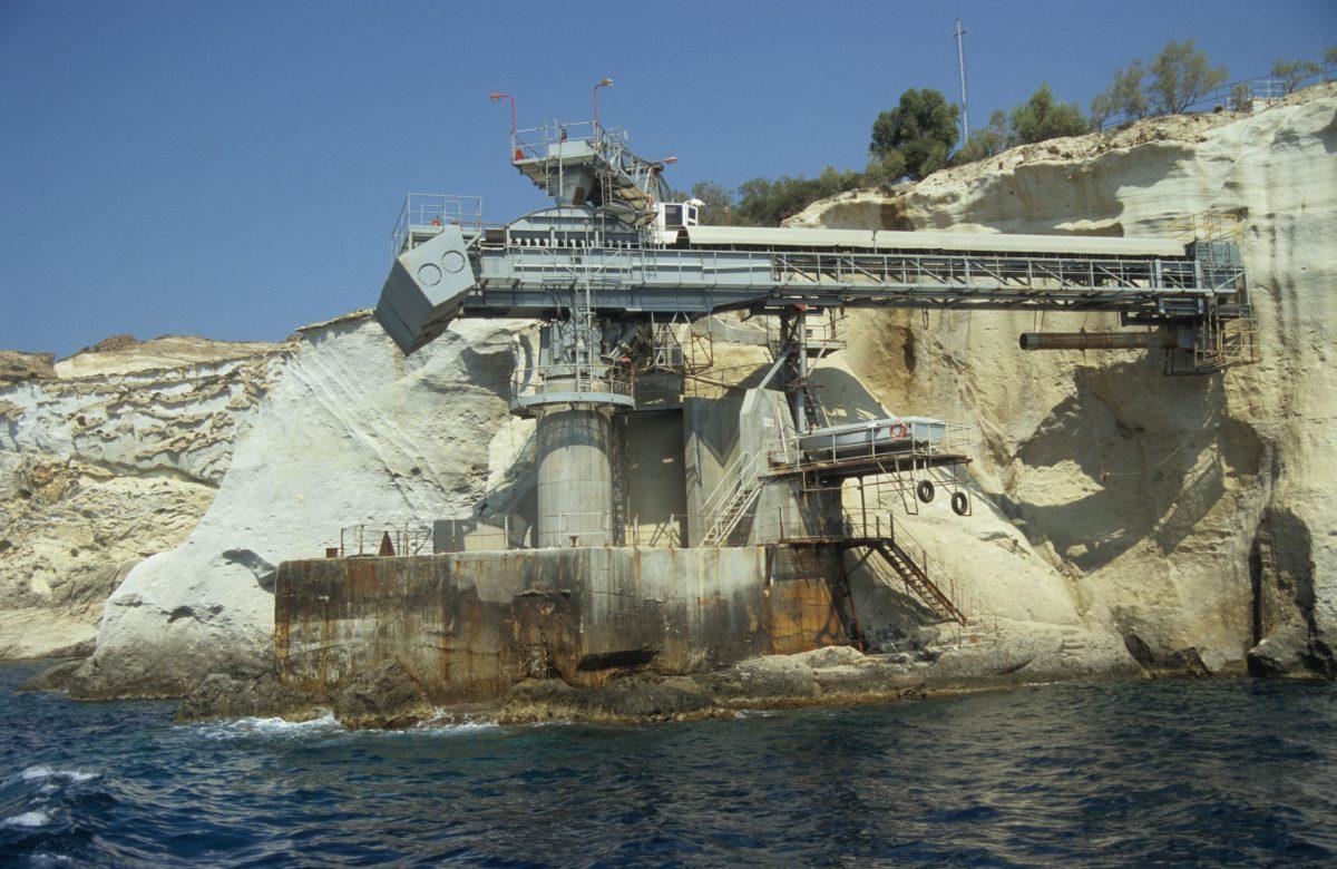 rock, sea, crane