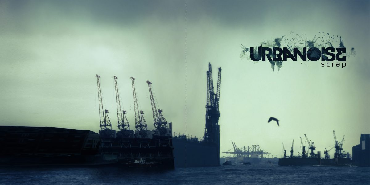 Urbanoise Scrap - CD cover design for friend music project, digital, photomanipulation, cover, ch3