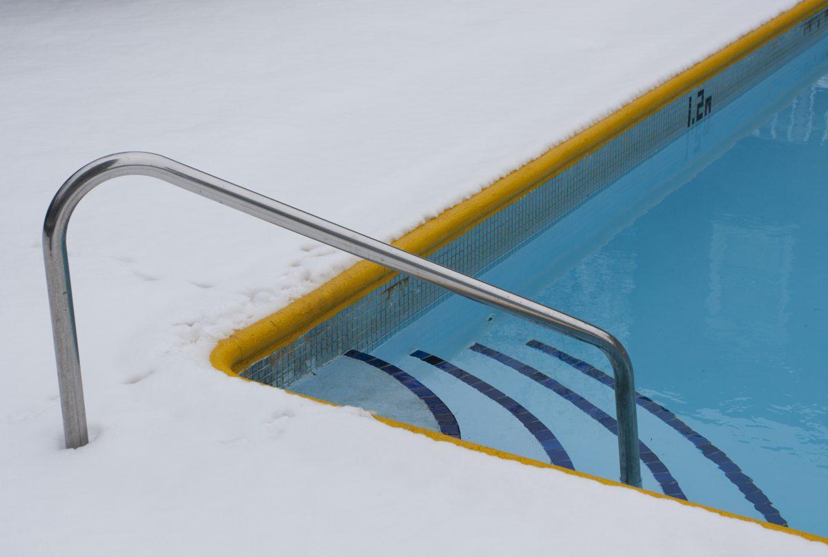 snow, pool