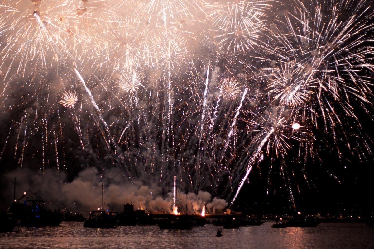 Celebration of nothing, firework, night