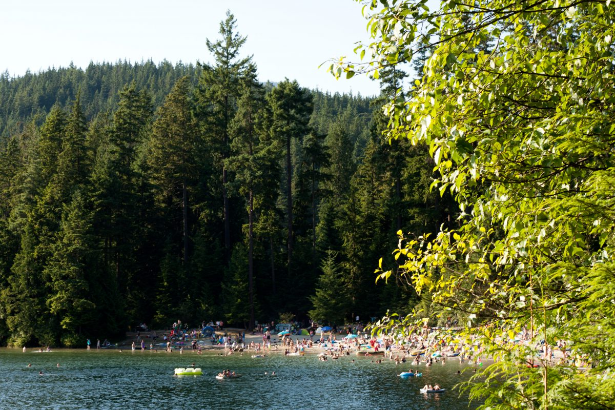 Sasamat lake, lake, forest, water