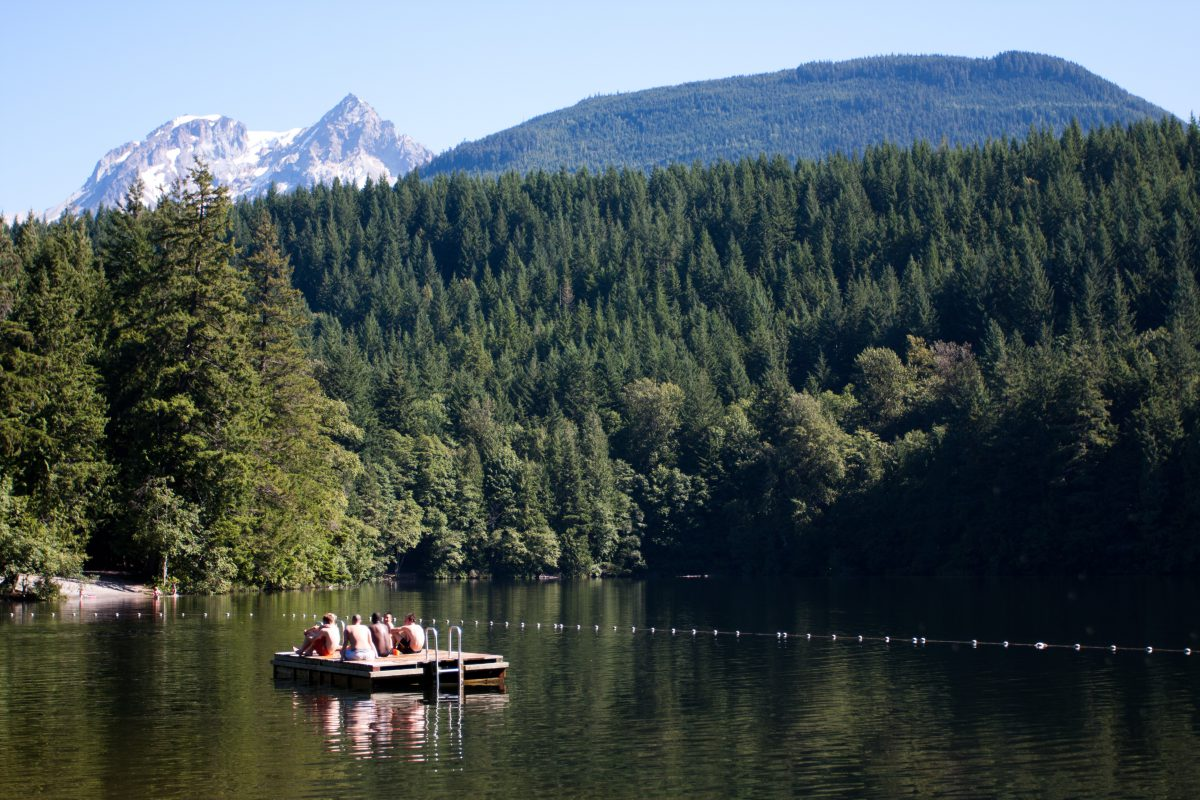 Alice Lake - at Squamish, forest, lake, water, relax