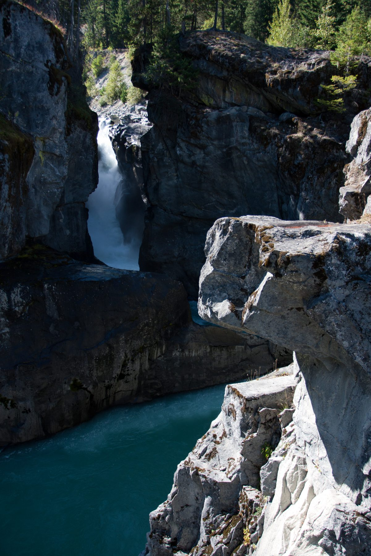 Nairn falls - Nairn falls, waterfall, water