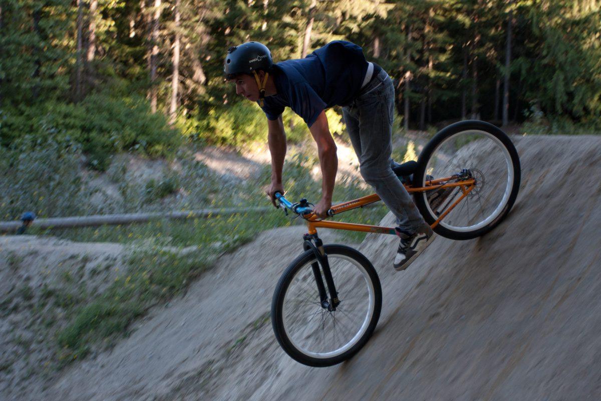Dirt jumps - at Whistler bike park, bike