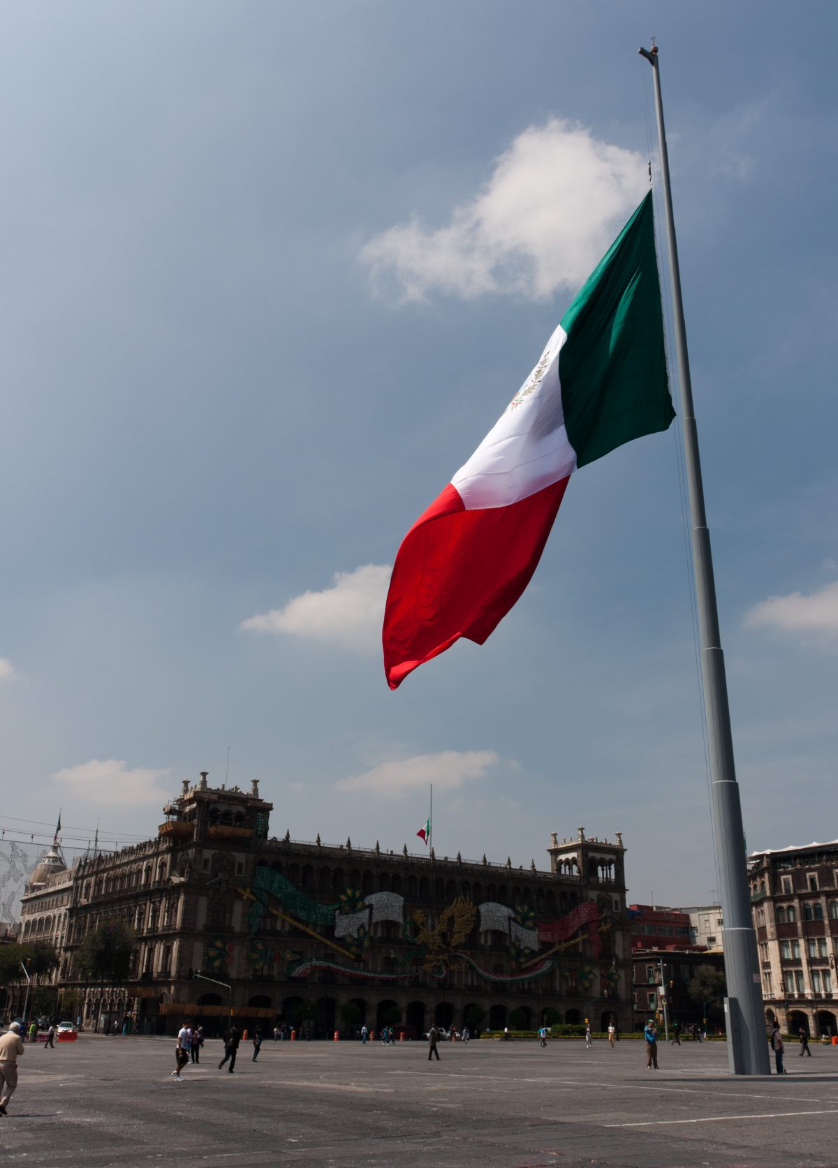 Zocalo, landmark, building, flag