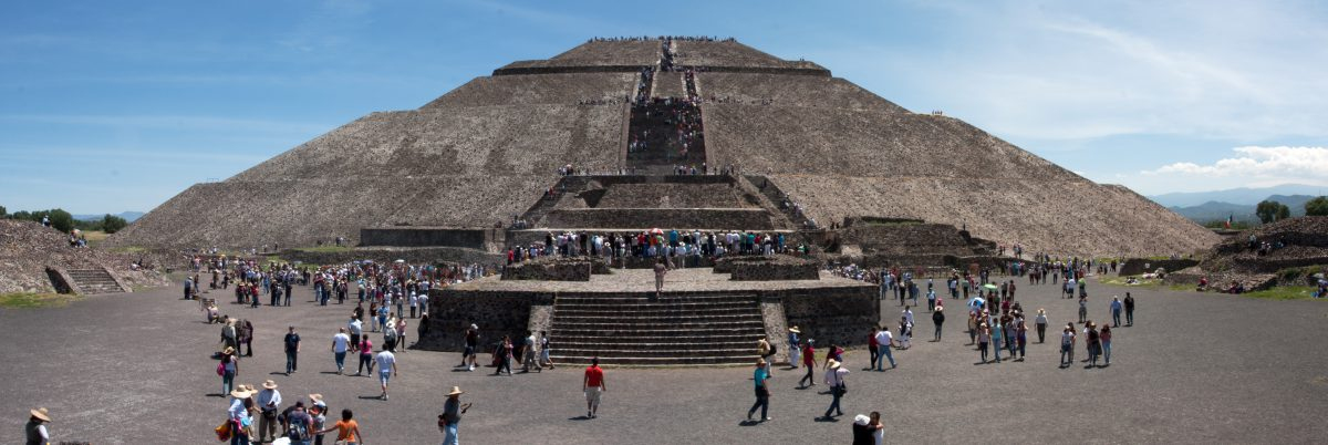 Sun Pyramid - At Teotihuacan, landmark, pyramid