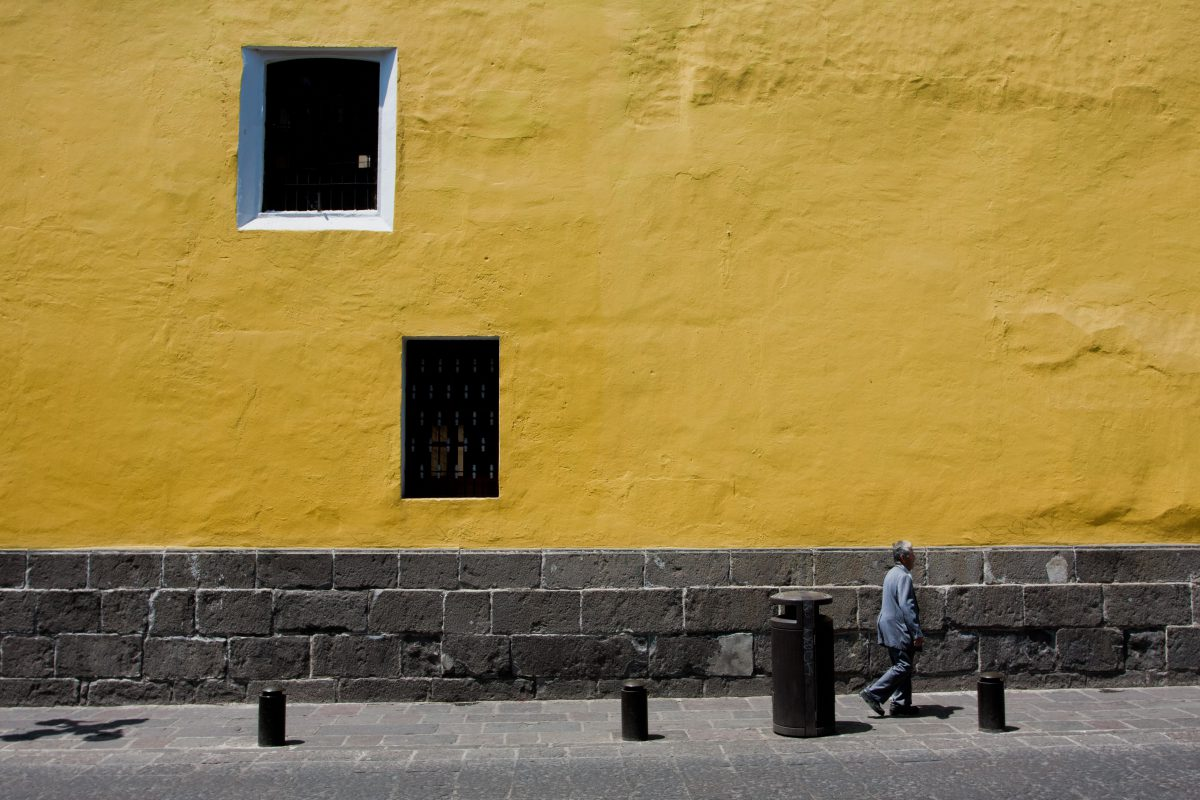 Yellow wall, window, color
