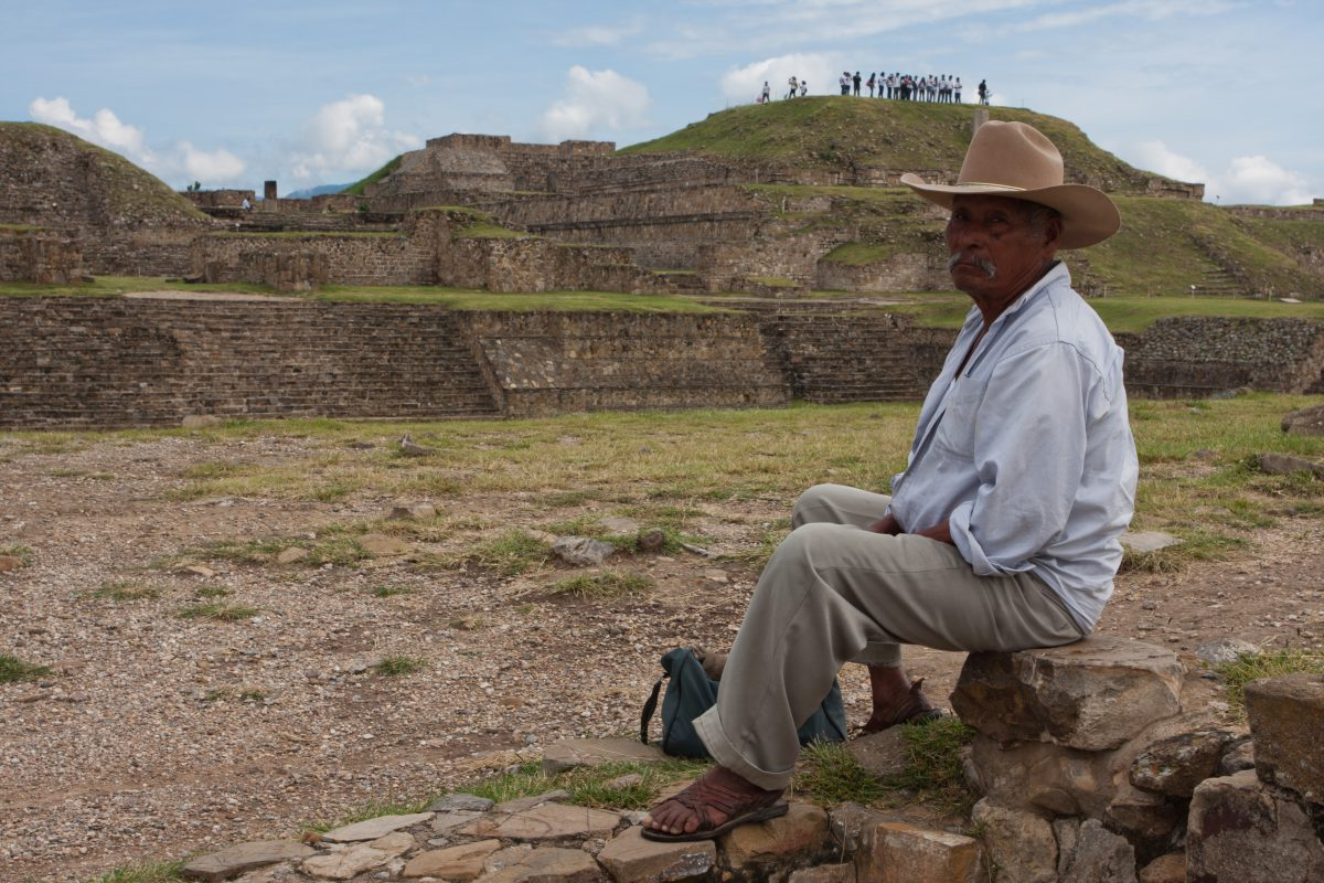 Monte Alban, landmark, pyramid, male