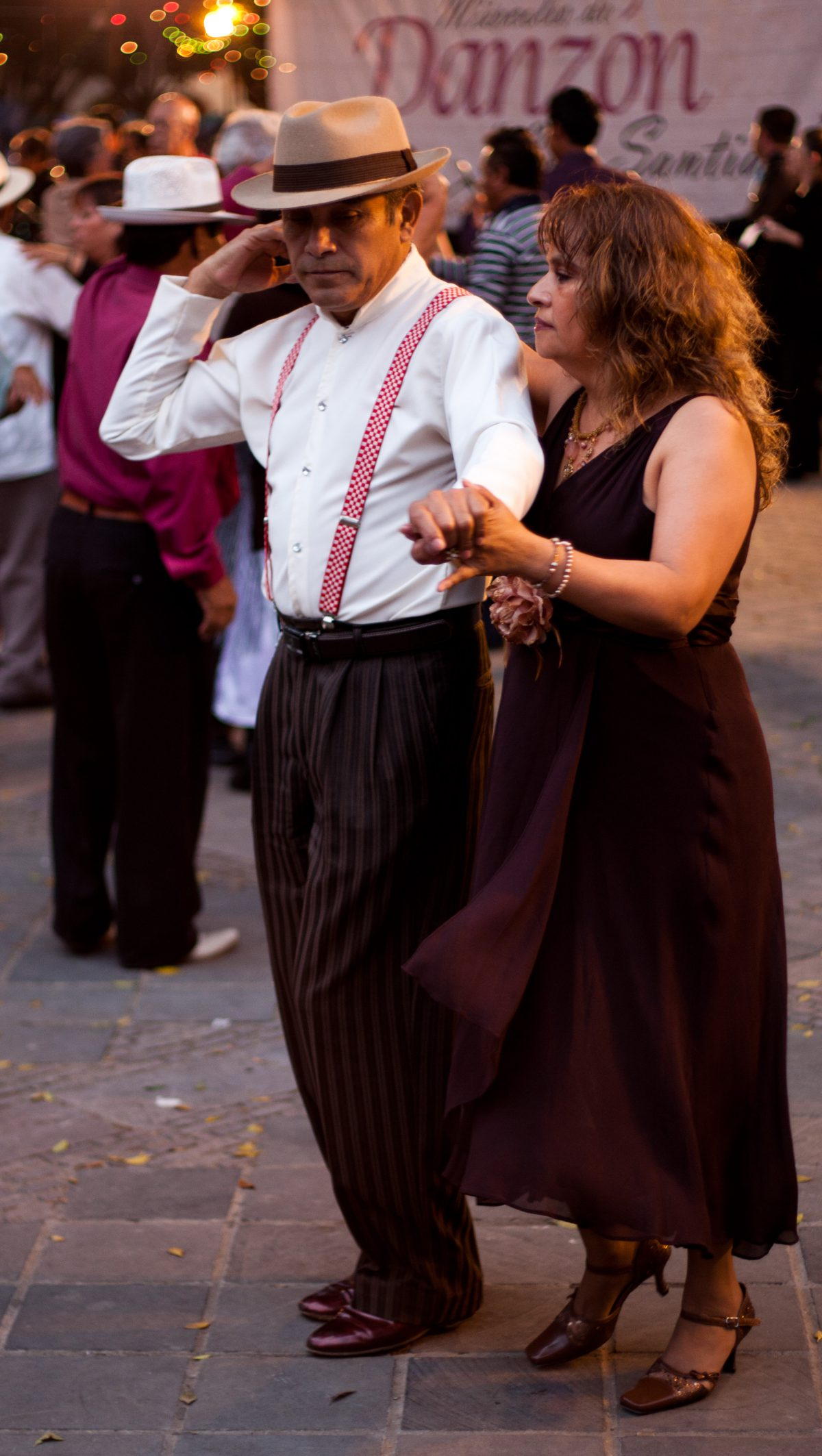Dancing - at Oaxaca Zocalo square, male, female, dance