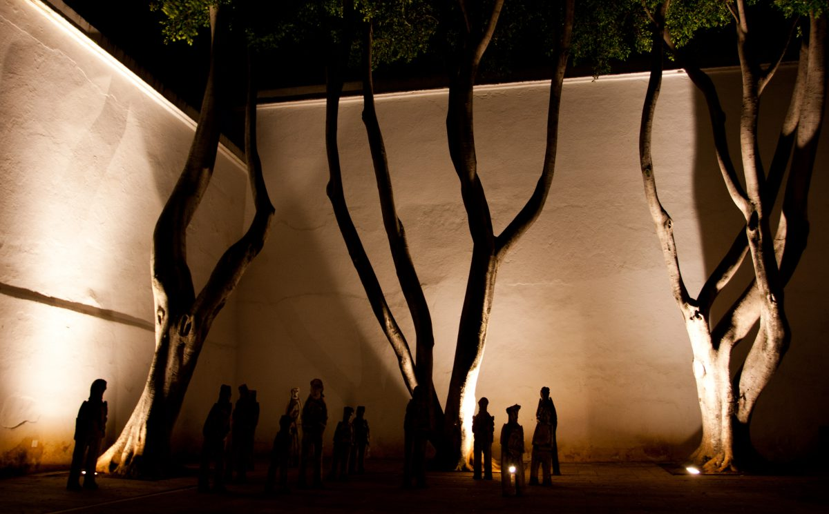 Contemporary Art Museum - At Oaxaca city, art, museum, night, sculpture