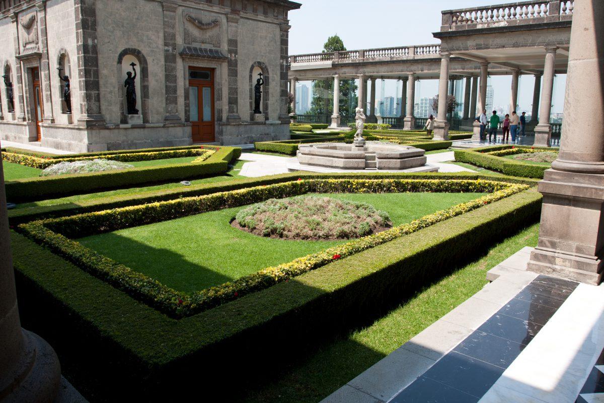 Chapultepec Castle, building, garden