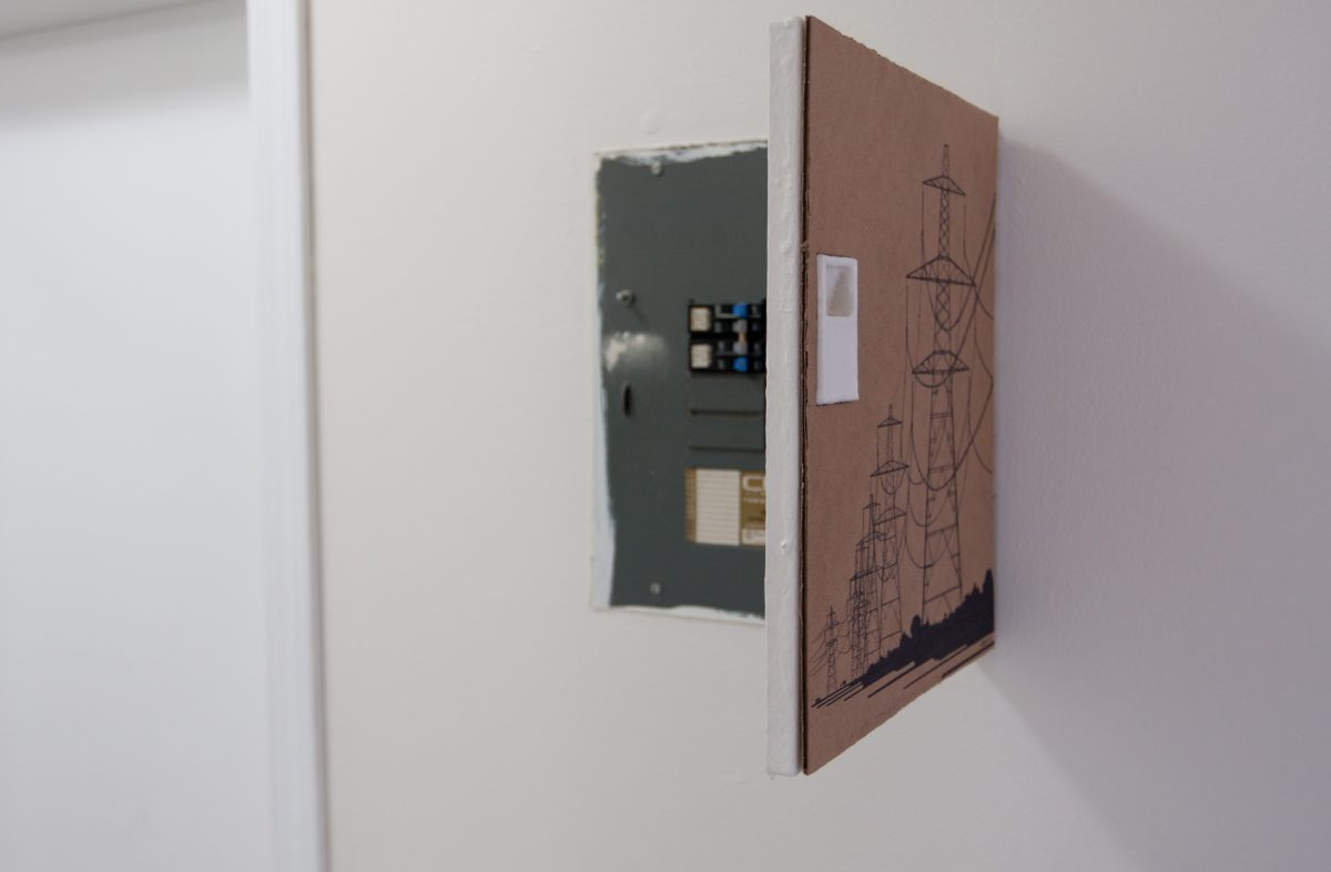 Power Lines - covering the fusebox, ch3, cardboard
