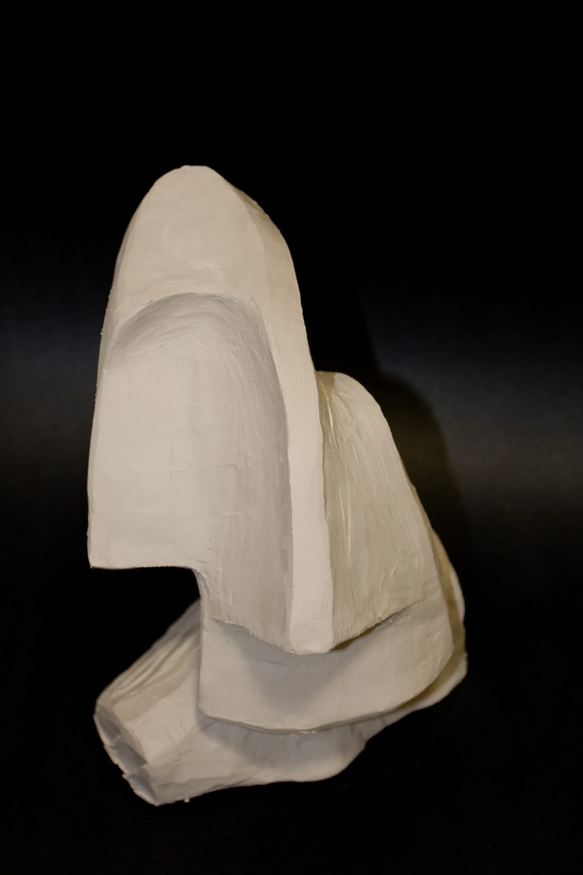 Twist face WIP - 20cm, clay, ch3, clay, bust
